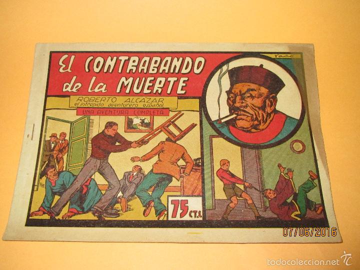 EL CONTRABANDO DE LA MUERTE Nº 49 DE *ROBERTO ALCAZAR Y PEDRÍN* 1ª EDICIÓN 75 CTS - AÑO 1943 (Tebeos y Comics - Valenciana - Roberto Alcázar y Pedrín)