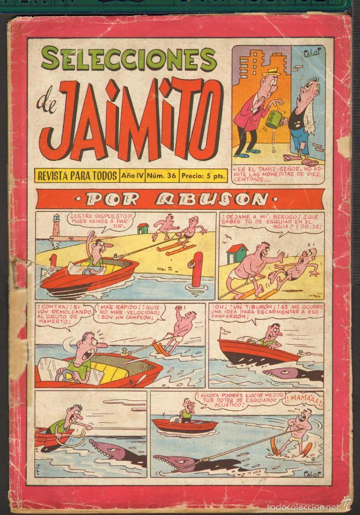 TEBEOS-COMICS CANDY - SELECCIONES DE JAIMITO - Nº 36 - 1961 - ORIGINAL - MUY RARO - *UU99 (Tebeos y Comics - Valenciana - Jaimito)