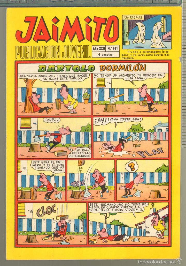 TEBEOS-COMICS CANDY - JAIMITO - Nº 931 - 1946 - ORIGINAL - RARO - * AA99 (Tebeos y Comics - Valenciana - Jaimito)