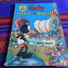 Tebeos: LIBROS ILUSTRADOS PUMBY Nº 55. VALENCIANA 1973. 50 PTS. TITANES DE LA PRADERA. REGALO Nº 25. RARO.. Lote 31556094