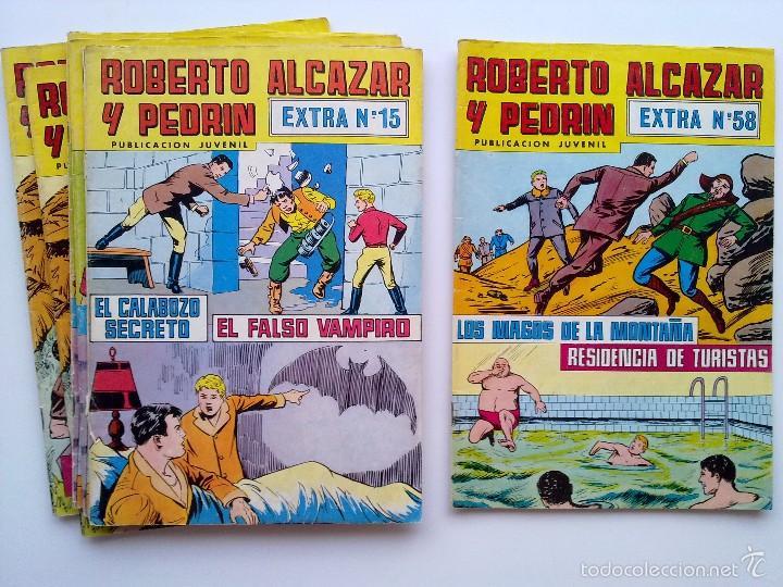 LOTE 6 TEBEOS EXTRA ROBERTO ALCAZAR Y PEDRIN, EDITORIAL VALENCIANA (Tebeos y Comics - Valenciana - Roberto Alcázar y Pedrín)