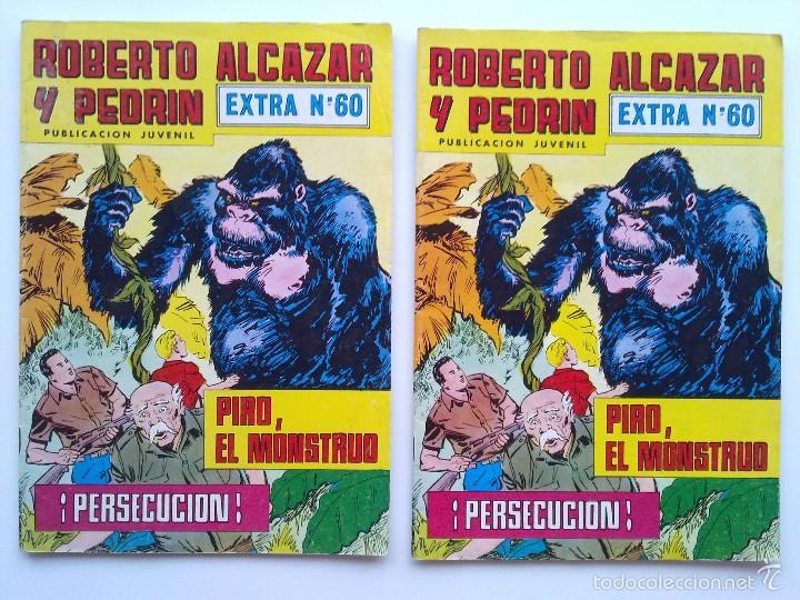 Tebeos: LOTE 6 TEBEOS EXTRA ROBERTO ALCAZAR Y PEDRIN, EDITORIAL VALENCIANA - Foto 3 - 57554087