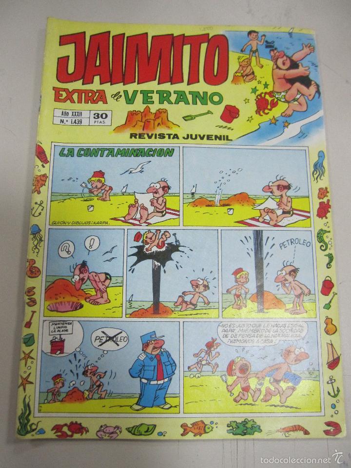 TEBEO JAIMITO. EXTRA DE VERANO. AÑO XXXII. Nº 1439. LA CONTAMINACION (Tebeos y Comics - Valenciana - Jaimito)