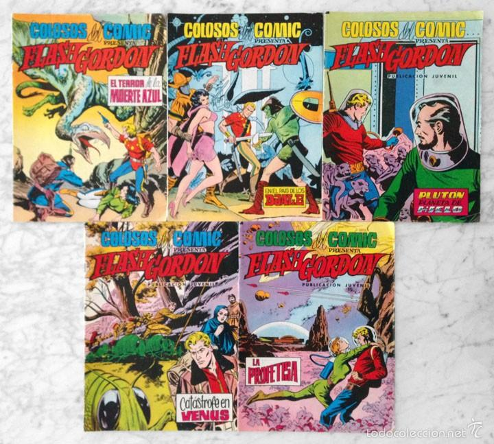 COLOSOS DEL CÓMIC - FLASH GORDON - LOTE DE 5 CÓMICS - NºS 6-7-23-27-29 - ED. VALENCIANA - 1979-1980 (Tebeos y Comics - Valenciana - Colosos del Comic)