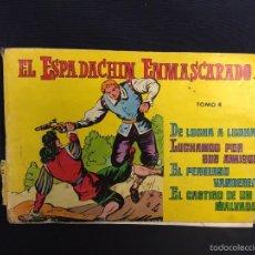 Tebeos: EL ESPADACHIN ENMASCARADO TOMO 4 SEGUNDA EDICION 14, 15, 16 16,5X25CMS. Lote 58555297