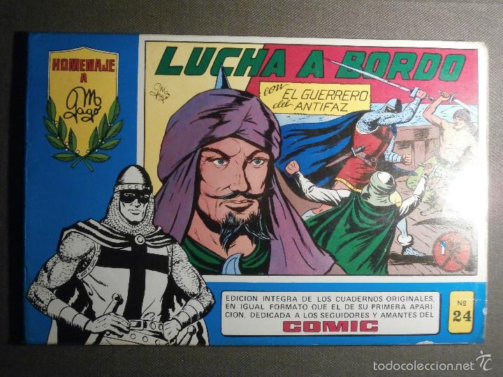 EL GUERRERO DEL ANTIFAZ Nº 24 - LUCHA A BORDO - HOMENAJE A MANUEL GAGO EDITORA VALENCIANA (Tebeos y Comics - Valenciana - Guerrero del Antifaz)