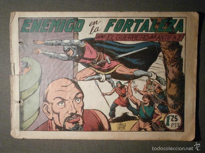 TEBEO - COMIC - EL GUERRERO DEL ANTIFAZ - ENEMIGO EN LA FORTALEZA - VALENCIANA - Nº 115 - ORIGINAL (Tebeos y Comics - Valenciana - Guerrero del Antifaz)