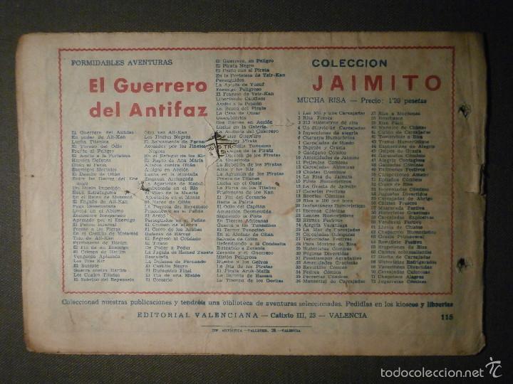 Tebeos: TEBEO - COMIC - EL GUERRERO DEL ANTIFAZ - ENEMIGO EN LA FORTALEZA - VALENCIANA - Nº 115 - ORIGINAL - Foto 2 - 58600993