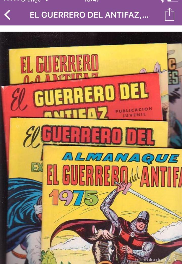 Tebeos: EL GUERRERO DEL ANTIFAZ, COLECCION COMPLETA 343 EJEMPLARES + 13 ESPECIALES ( DE VALENCIANA 1972 ) - Foto 10 - 47321997