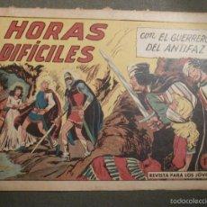 Tebeos: TEBEO - COMIC - EL GUERRERO DEL ANTIFAZ - HORAS DIFÍCILES - VALENCIANA - Nº 378 - ORIGINAL. Lote 58644805