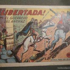 Tebeos: TEBEO - COMIC - EL GUERRERO DEL ANTIFAZ - LIBERTADA - VALENCIANA - Nº 387 - ORIGINAL. Lote 58644883