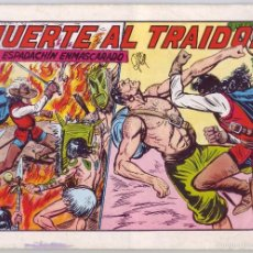Tebeos: EL ESPADACHÍN ENMASCARADO: MUERTE AL TRAIDOR. Nº 34 (1982). Lote 58938600