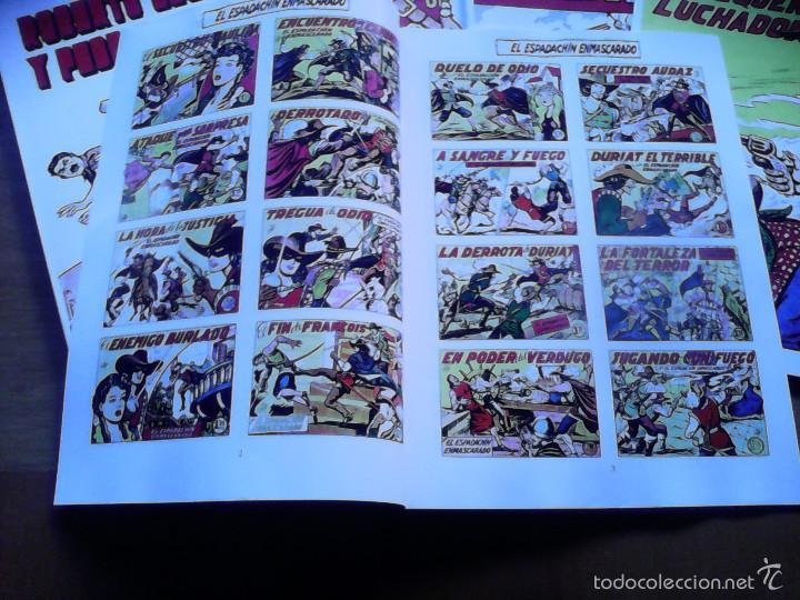 Tebeos: El Espadachín Enmascarado. Album con todas las portadas de la colección. 34 páginas - Foto 3 - 58965840