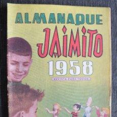 Tebeos: JAIMITO ALMANAQUE 1958 EDITORIAL VALENCIANA. Lote 59170840