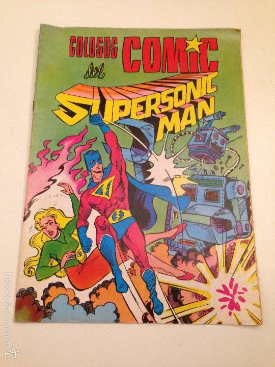 COLOSOS DEL COMIC. SUPERSONIC MAN. Nº 3. 1979 VALENCIANA, (Tebeos y Comics - Valenciana - Colosos del Comic)