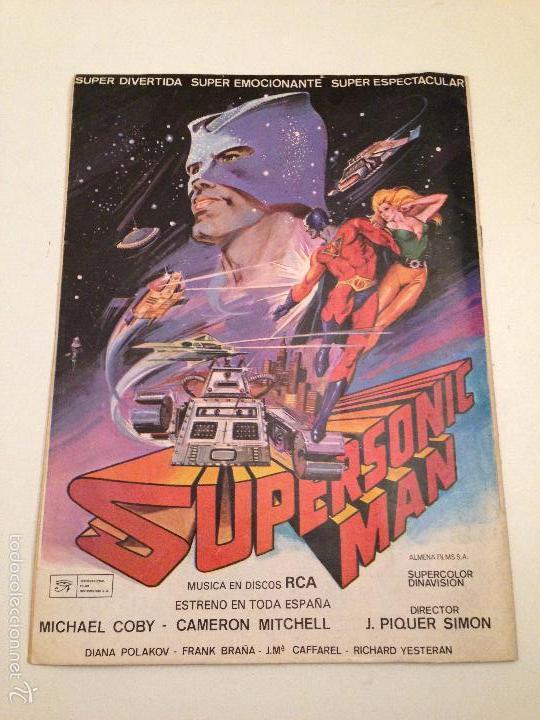 Tebeos: COLOSOS DEL COMIC. SUPERSONIC MAN. Nº 3. 1979 VALENCIANA, - Foto 2 - 61172491
