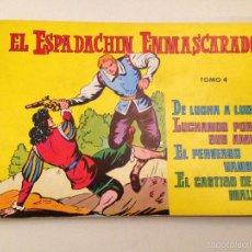 Tebeos: EL ESPADACHIN ENMASCARADO TOMO RETAPADO Nº 4. 2ª ED. VALENCIANA 1981. Lote 61193667