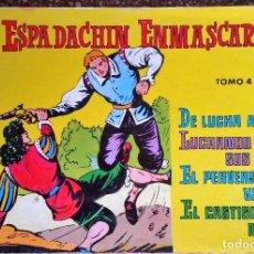 Tebeos: EL ESPADACHÍN ENMASCARADO TOMOS 2, 3 Y 4. EDITORIAL VALENCIANA.. Lote 61629012