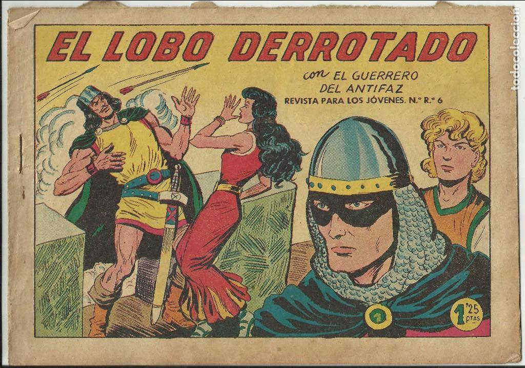 COMIC TEBEO EL GUERRERO DEL ANTIFAZ, EL LOBO DERROTADO EDITORIAL VALENCIANA. (Tebeos y Comics - Valenciana - Guerrero del Antifaz)