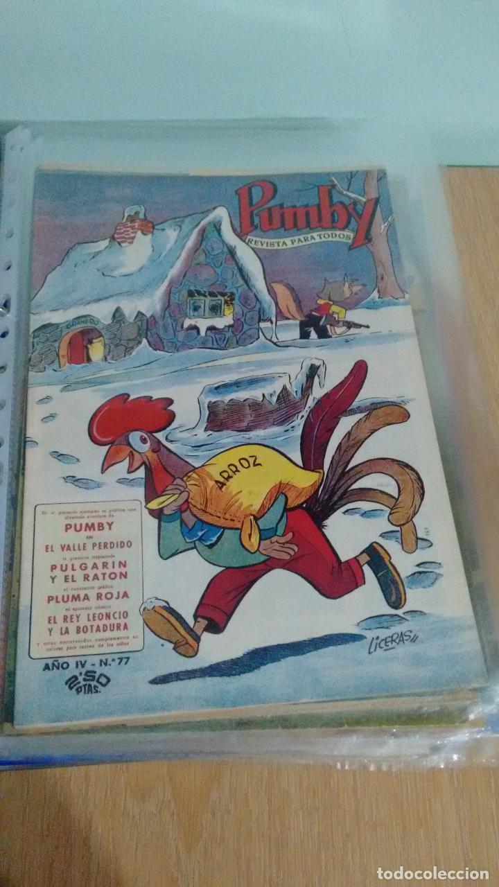PUMBY Nº 77. VALENCIANA 1958. LICERAS. IMPECABLE (Tebeos y Comics - Valenciana - Pumby)