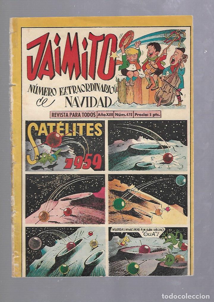 TEBEO JAIMITO. NUMERO EXTRAORDINARIO DE NAVIDAD. 1959. SATELITES. AÑO XIII. Nº 478. VER (Tebeos y Comics - Valenciana - Jaimito)