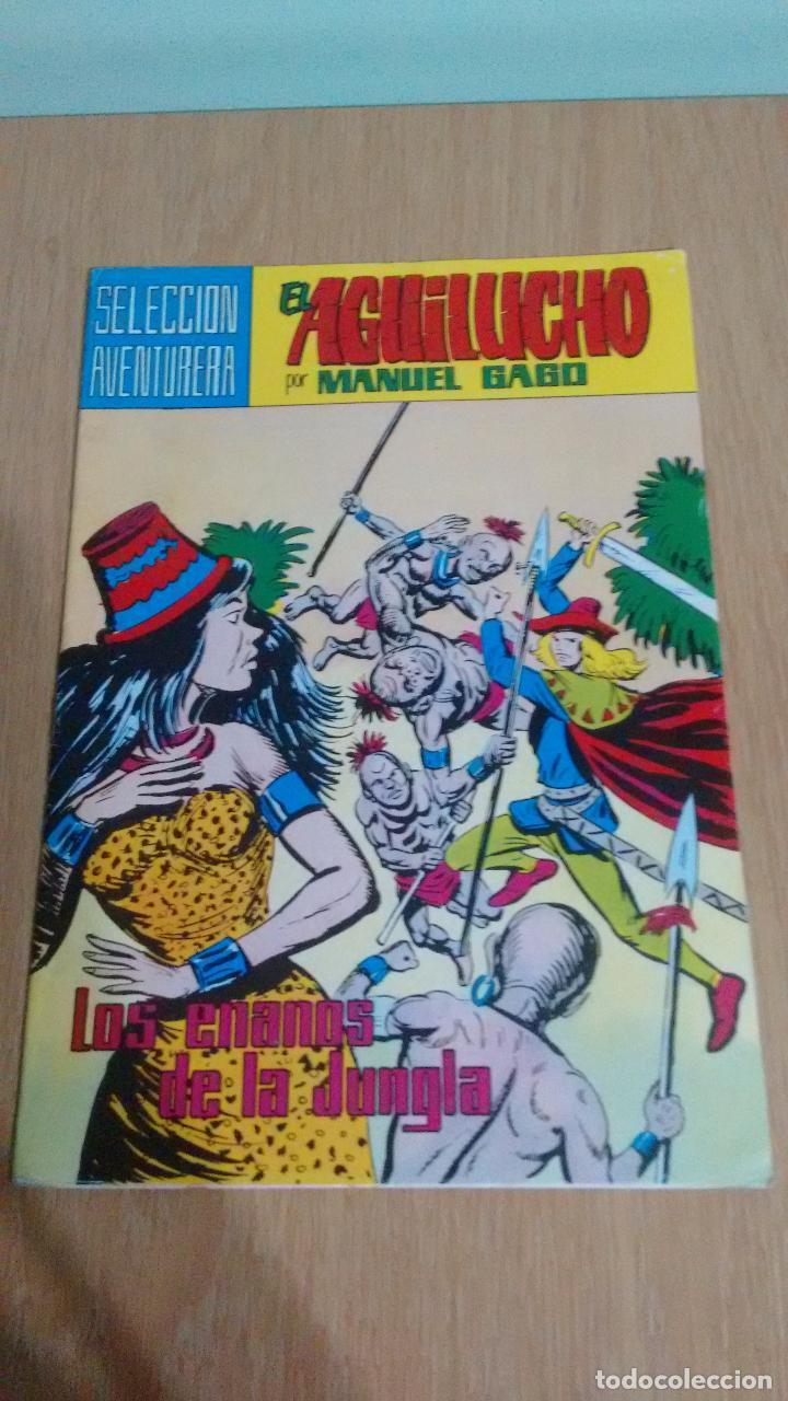 SELECCION AVENTURERA EL AGUILUCHO Nº 33. LOS ENANOS DE LA JUNGLA. VALENCIANA 1982. MANUEL GAGO. (Tebeos y Comics - Valenciana - Selección Aventurera)