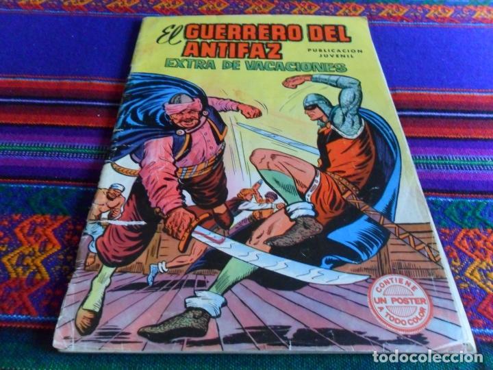 Tebeos: EL GUERRERO DEL ANTIFAZ EXTRA VACACIONES 1973 PÓSTER DE OSMIN KIR. EDIVAL. REGALO ALMANAQUE 1974. - Foto 3 - 14026536