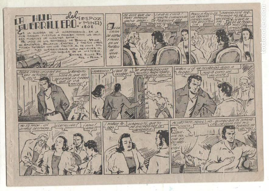 Tebeos: SELECCION AVENTURERA ORIGINAL-MAGNÍFICO ESTADO 1942 VALENCIANA-LA HIJA DEL GUERRILLERO -ESPOZ Y MINA - Foto 2 - 68786329