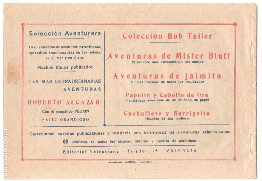 Tebeos: SELECCION AVENTURERA ORIGINAL-MAGNÍFICO ESTADO 1942 VALENCIANA-LA HIJA DEL GUERRILLERO -ESPOZ Y MINA - Foto 3 - 68786329