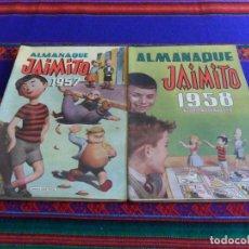 Tebeos: ALMANAQUE JAIMITO 1957 Y 1958. VALENCIANA. MUY BUEN ESTADO. ORIGINALES.. Lote 69058389