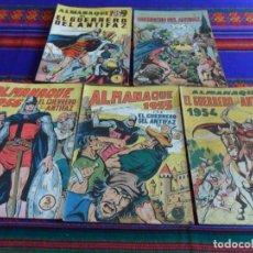 Tebeos: EL GUERRERO DEL ANTIFAZ ALMANAQUE 1954 1955 1956 1958 1959. VALENCIANA. RAROS. BE.. Lote 69062193