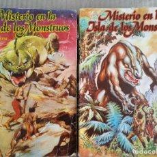 Tebeos: MISTERIO EN LA ISLA DE LOS MOSTRUOS DE JULIO VERNE EN 2 VOLÚMENES. Lote 70446837