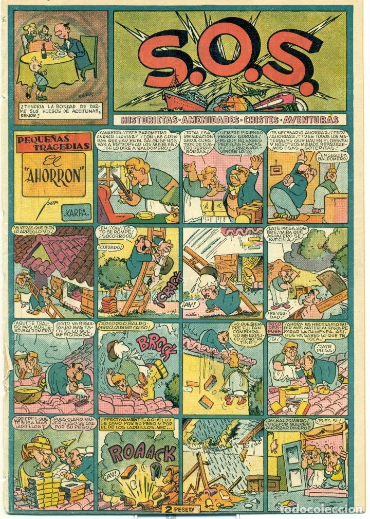 S.O.S. Nº 24 PROCEDE DE ENCUADERNACION, PERO BIEN CONSERVADO (Tebeos y Comics - Valenciana - S.O.S)