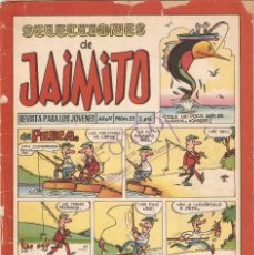 Tebeos: SELECCIONES DE JAIMITO, AÑO 1.958. Nº 55. ORIGINAL, EDITORIAL VALENCIANA.. Lote 71103301