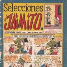 Tebeos: SELECCIONES DE JAIMITO, AÑO 1.958. Nº 5. ORIGINAL, EL Nº 1. DE ESTE TAMAÑO., EDITORIAL VALENCIANA.. Lote 71104317