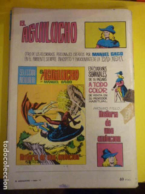 Tebeos: COMIC EL AGUILUCHO POR MANUEL GAGO. SELECCIÓN AVENTURERA. Nº17. - Foto 2 - 72154851