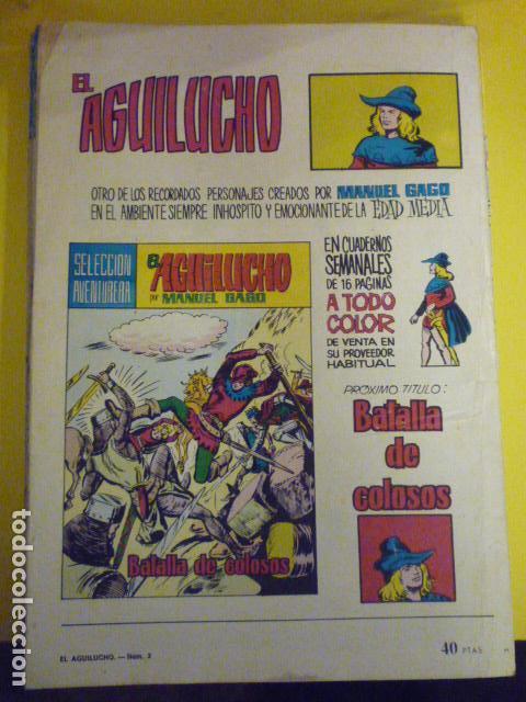 Tebeos: COMIC EL AGUILUCHO POR MANUEL GAGO. SELECCIÓN AVENTURERA. Nº3. - Foto 2 - 72155527