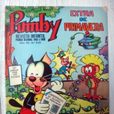 Tebeos - PUMBY , EXTRA DE PRIMAVERA , Nº 855 , 1974 , VALENCIANA , ORIGINAL - 73305403
