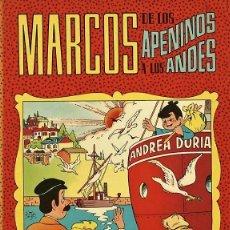 Tebeos: MARCOS DE LOS APENINOS A LOS ANDES, DE CERDAN Y SORIANO (VALENCIANA, 1977) NUEVO. Lote 74645979