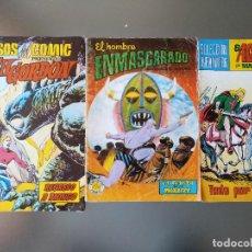 Lote El Hombre Enmascarado n 15 , El Aguilucho por M. Gago n 31 y Flash Gordon regreso a Mongo n 2
