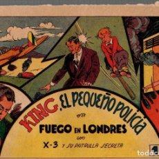 BDs: KING, EL PEQUEÑO POLICIA EN FUEGO EN LONDRES CON X-3 Y SU PATRULLA SECRETA. ORIGINAL. Lote 76301195