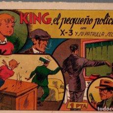 BDs: KING, EL PEQUEÑO POLICIA CON X-3 Y SU PATRULLA SECRETA. ORIGINAL. Lote 76302619