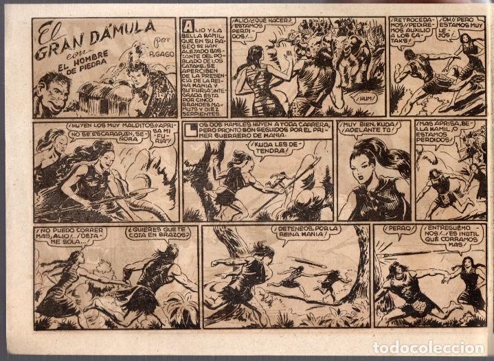 Tebeos: EL HOMBRE DE PIEDRA EN EL GRAN DÁMULA. Nº 14. VALENCIANA. ORIGINAL - Foto 2 - 76362979