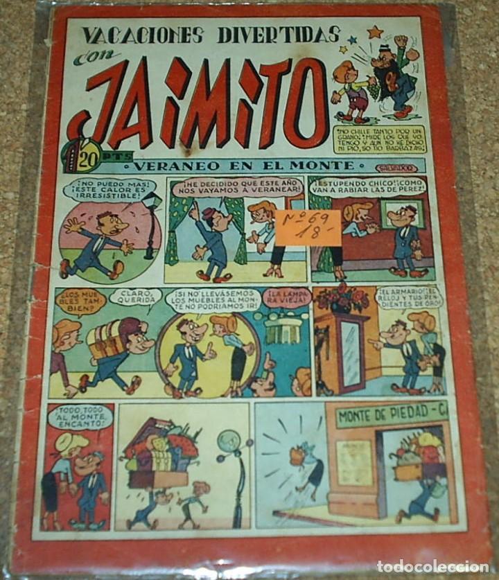 JAIMITO Nº 69, VACACIONES DIVERTIDAS- ORIGINAL EN MUY BUEN ESTADO- VER DESCRIPCIÓN Y CONDICIONES (Tebeos y Comics - Valenciana - Jaimito)