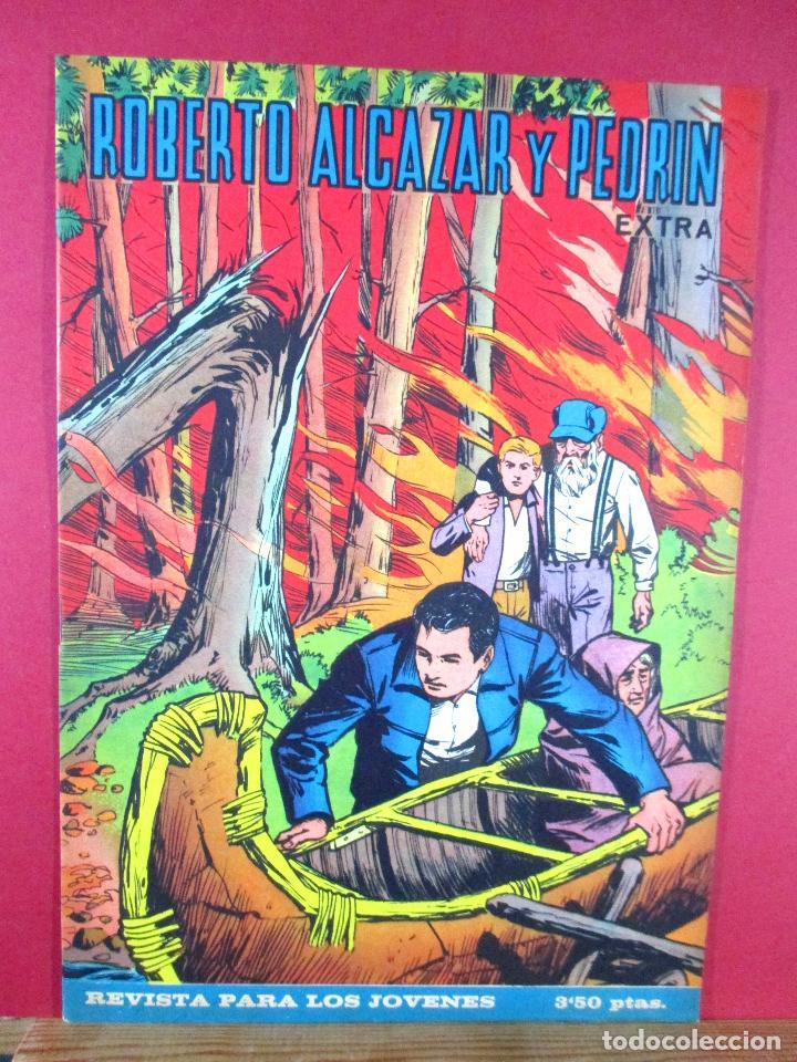 ROBERTO ALCÁZAR Y PEDRÍN EXTRA Nº 8 , EDITORIAL VALENCIANA ,1965 (Tebeos y Comics - Valenciana - Roberto Alcázar y Pedrín)