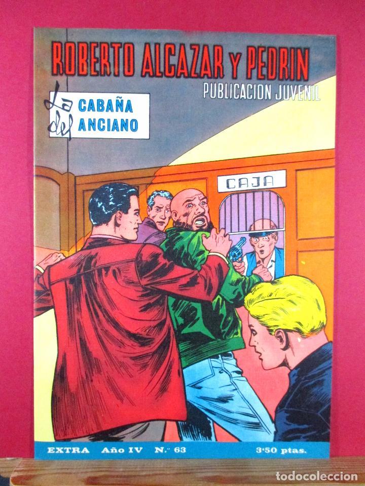 ROBERTO ALCÁZAR Y PEDRÍN EXTRA Nº 63 , EDITORIAL VALENCIANA ,1968 (Tebeos y Comics - Valenciana - Roberto Alcázar y Pedrín)