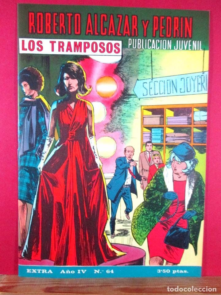 ROBERTO ALCÁZAR Y PEDRÍN EXTRA Nº 64 , EDITORIAL VALENCIANA ,1968 (Tebeos y Comics - Valenciana - Roberto Alcázar y Pedrín)
