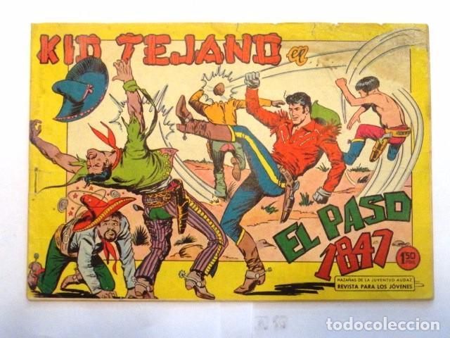 COMIC KID TEJANO EN EL PASO 1847 Nº 21 EDITORIAL VALENCIANA 1961 (Tebeos y Comics - Valenciana - Otros)