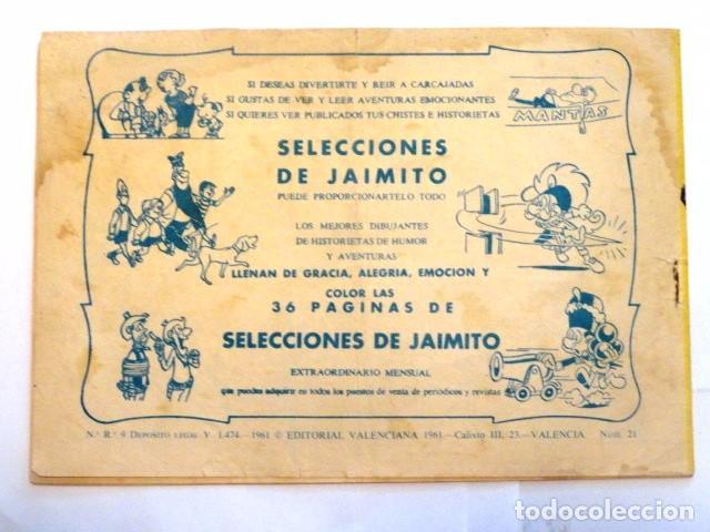 Tebeos: COMIC KID TEJANO EN EL PASO 1847 Nº 21 EDITORIAL VALENCIANA 1961 - Foto 7 - 77513821