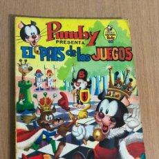 Tebeos: LIBROS ILUSTRADOS PUMBY Nº 3. EL PAIS DE LOS JUEGOS. EDITORIAL VALENCIANA 1968. Lote 78431509